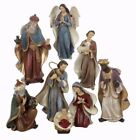 KURT S ADLER HAND PAINTED 65 RESIN 8 PIECE NATIVITY SET CHRISTMAS DECORATION