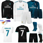 2017 18 Football Kids Short Long Sleeve Jersey Sport Outfit Kit 3 12 YRS + Socks