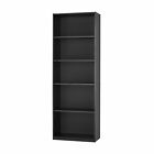 71 Tall Adjustable 5 Shelf Wood Bookcase Storage Shelving Book Wide Bookshelf