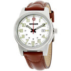 Wenger Field Classic White Dial Leather Strap Men's Watch 72801