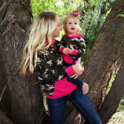 Family Outfits Clothes Mother and Daughter Dress Women Girls Long Sleeve Dresses
