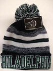 Philadelphia Eagles Team Color Sideline Replica Pom Pom Knit Beanie Hat Black