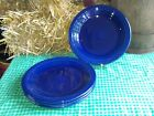 4 DINNER PLATES set lot cobalt HOMER LAUGHLIN FIESTA WARE 10.5