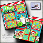 BABYS 1st CHRISTMAS 2 premade scrapbook pages paper printed boy girl CHERRY