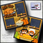 THANKSGIVING TURKEY 2 Premade Scrapbook Pages Paper printed layout BY CHERRY