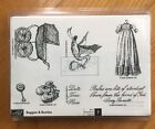 Stampin Up Buggies  Booties Baby Stork Rattle Vintage Christening Gown