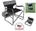 Portable Picnic Patio Chair Side Table Folding Fishing Hiking Beach Seat Camping