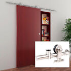 6.6 FT Modern Stainless Steel Sliding Barn Wood Door Closet Hardware Track Set A