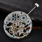 Watch Parts,17 Jewels Asian Silver Full Skeleton Hand Winding Men Watch Movement