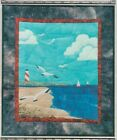 QUILTED WALL HANGING PICTURE PIECING AT THE BEACH LANDSCAPE PATTERN