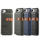 Leather Wallet Case Credit Card Slot Shockproof Flip Cover For iPhone 7 6 8 Plus