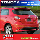 09+ Toyota Matrix Top Trunk Roof Spoiler Painted 1F7 CLASSIC SILVER METALLIC