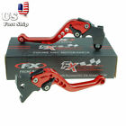 US For Yamaha XT600 ZE TENERE 87-92/DT125R 1988 Red FXCNC Clutch Brake Levers