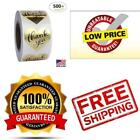 500 Pk Gold Thank You Stickers Roll For Your Business Personalized Custom Label