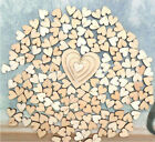 100X Love Heart Rustic Wood Wooden Wedding Table Scatter Decoration Craft DIY PL