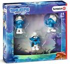Smurfs Movie THE LOST VILLAGE Set 1 Action 3 Figures - Schleich Hand-Painted New