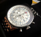 BREITLING NAVITIMER WORLD GMT STAINLES STEEL WATCH, Ref.A24322, BOX / DOCS.
