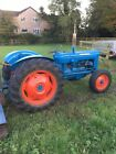 FORDSON SUPER DEXTA TRACTOR and FLEMING TOPPER