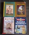 Lot of 4 Books Royal Diaries Childhood of Famous Americans Dear America