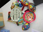 Vtg 6 tin noisemakers US Metal Co  3 additional noise makers plus Tambourine