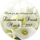 Calla Lily Personalized Bridal Shower and Wedding Stickers