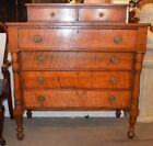 Pennsylvania Tiger Maple Chest of Drawers-American Empire-Beautiful warm look!