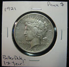 1921 1 Peace Dollar Circulated 1st Year  a Better Date No Res 1117289