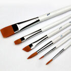 Professional Painting Set 6pcs Acrylic Oil Watercolors Artist Paint Brushes New