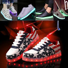 2017 NEW Mens Womens LED Light up stars Sneakers Trainer Luminous Shoes