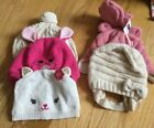Mixed Lot Baby Girl 0 12 Month Winter Hats Lot Of 5