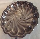 vintage silver plate candy dish,swirl look, nuts, candy, business cards, decor