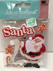 Jolees Christmas Stickers Santa With His List Plus Gingerbread Man And Candy