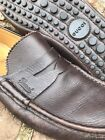 470 GUCCI Brown Leather Driving Moccasins Shoes With Pebbled Soles Gucci 7 G