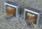 RARE BIG  HEAVY PAIR OF VINTAGE OUTPUT TRANSFORMERS FROM BIG GE 7355 TUBE AMP