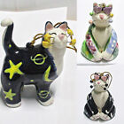Whimsiclay Cat Christmas Ornaments by Amy Lacombe Signed 2002