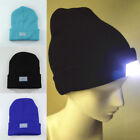 Ultra Bright 5 LED Winter Warm Beanie Cap Unisex Camping Hiking Knitting Hat