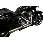 Trask Straight Assault 2 Into 1 Stainless Exhaust for 2017 2018 Harley Touring