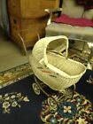 Vintage South Bend Toy  Wicker Doll Carriage Buggy