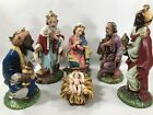 Vintage Fontanini 6 Piece Nativity CHRISTMAS 11 Tall Set Italy Paper Mache