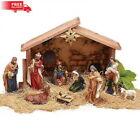 Nativity Set Indoor Outdoor Christmas Holiday Scene Decor Christian Gift Small