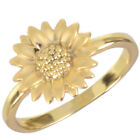 16k Gold Plated Sunflower Ring by Zoetik