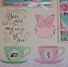 3 D You are My Cup of Tea 2 Handmade Premade Scrapbook Pages Paper Piecing Kay