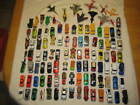 Large Lot of 106 Diecast Cars Trucks Planes Jets  Helicopters