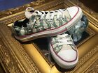 CONVERSE CHUCK TAYLORS BLACK SIAMESE CAT GREEN WHITE LO TOP CANVAS WOMENS 7 MLN