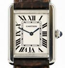Cartier Tank Solo 2716 Ladies Quartz Brown Leather Band Broken Parts As Is Watch
