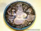 Awesome Rare Blue Toned 1991 Christmas Happy Holidays Troy Ounce Silver Round