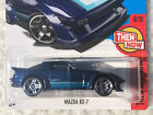 2017 Hot Wheels MAZDA RX-7 Then & Now #4/10 Blue #337 HTF Diecast Sports Car