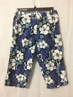 Syko Swim Summer Beach 3 4 Pants Blue and White Size 5 28 waist