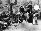 1660 031 director John Ford on set Katharine Hepburn and cast film Mary of Scotl