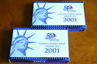 2001 US MINT PROOF SET w STATE QUARTERS  COA 10 COINS in orig mint package